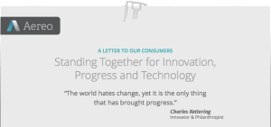 Letter from Aereo CEO