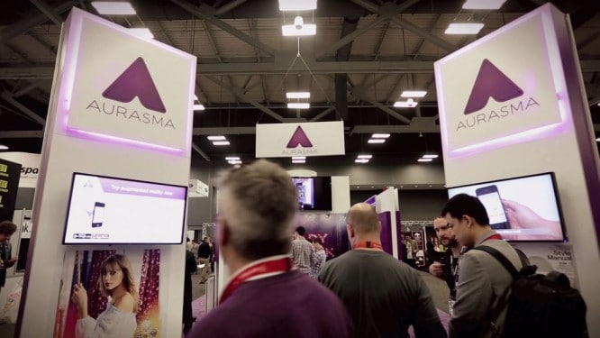 Aurasma's Booth at South by Southwest (SXSW) 2015.