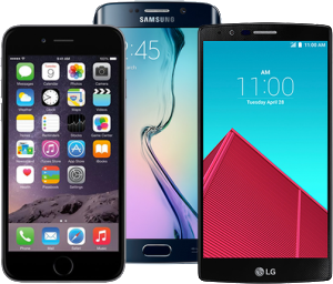 Some of the latest smartphones available on TPO.