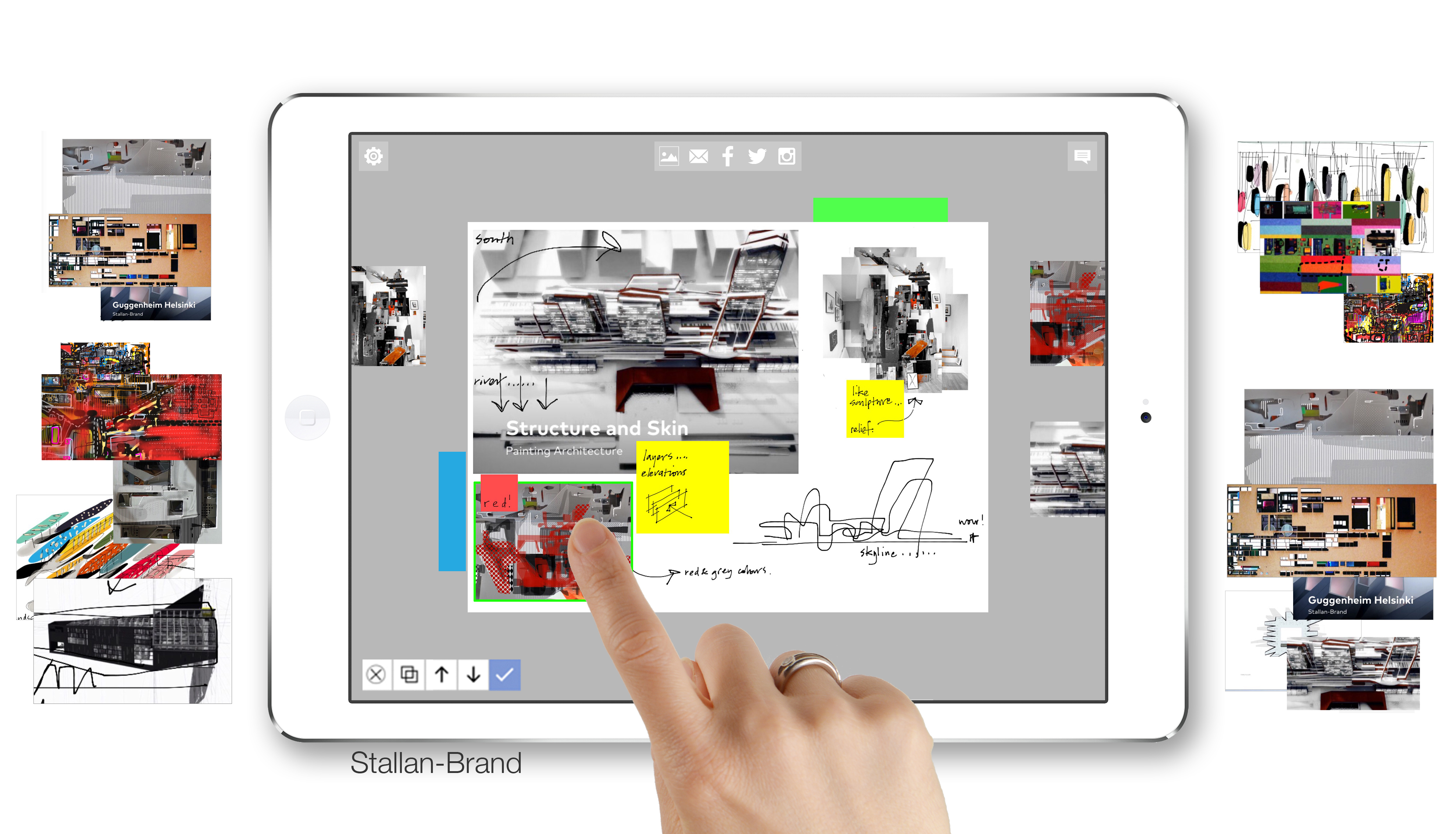 Collage with the 'Journal' App<BR>Paul Stallan, Design Director at Stallan-Brand, stallanbrand.com