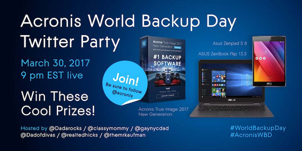 Acronis WBD Twitter Party 2017