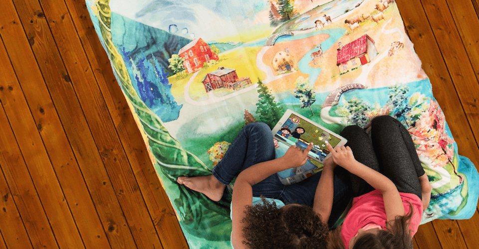 SpinTales augmented reality story-telling bed-cover.