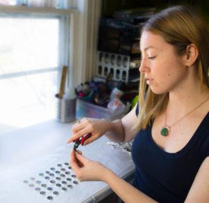 Circuit Breaker Labs founder, Amanda Preske, in her studio.