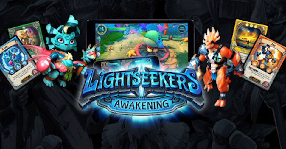 Lightseekers Card Game, Digital Game and Smart Figures.