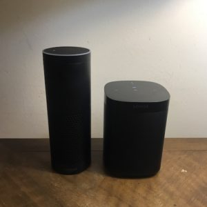 Amazon Echo and Sonos One Wireless Speaker.