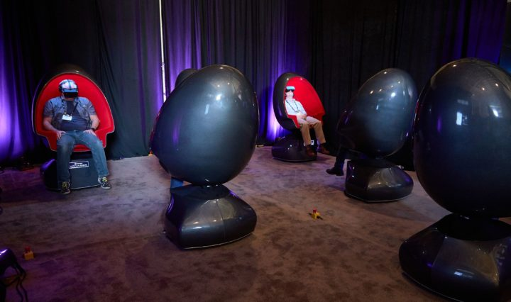 Immersive Enjoyment – To give VR OTL attendees an understanding of the complete, immersive VR experience in theatres that are being planned around the globe, Promise provided a number of their variable-speed vibration seats for the event.