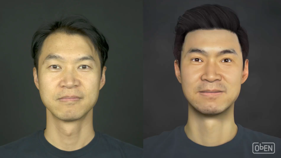 ObEN co-founder Adam Zheng and his avatar.