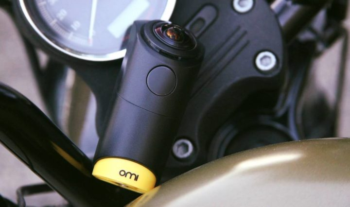 OmiCam 360º camera captures adventures.