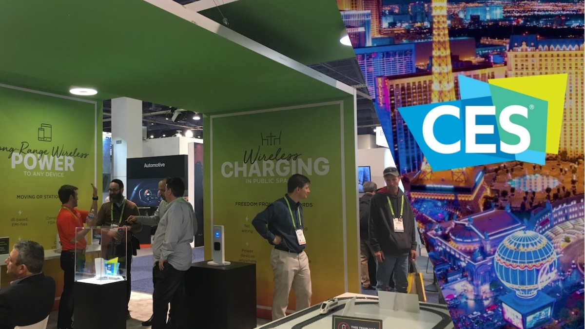 The Wi-Charge booth at CES 2019.